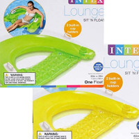 """Intex Sit N Float Inflatable Lounge, 60"""" X 39"""", 1 Pack (Colors May Vary) (2): Toys & Games"""