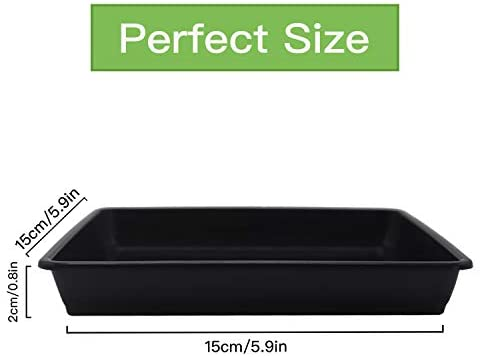 River 12 pcs Square Plastic Flower Pot Tray Plant Tray Plant Pot Saucer Tray for Indoor and Outdoor Plants, Potted Drip Tray, 5.9 inch x 5.9inch : Garden & Outdoor