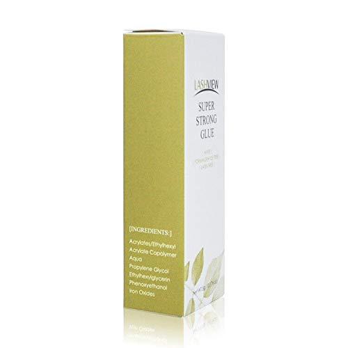 LASHVIEW Eyelash Glue, Latex-Free, Strong Hold, White Lash Glue, False Eyelashes Glue, Eyelash Adhesive, Waterproof Sensitive Glue, Eyelash Glue Clear, Suitable for Sensitive Person 5g : Beauty