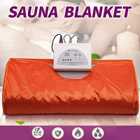 Uttiny Far Infrared Sauna Blanket, 70.8x31.4 Inches 110V 2 Zone Waterproof Detoxification Blanket with Safety Switch Used As Home Sauna for Body Shape Slimming Fitness (Purple) : Garden & Outdoor