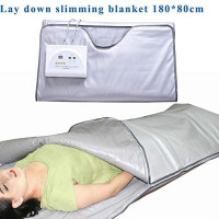 TEAMER Body Shaper Weight Loss Far Infrared Sauna Blanket, 2 Zone Controller Professional Detox Therapy Anti Ageing Beauty Machine Body : Garden & Outdoor