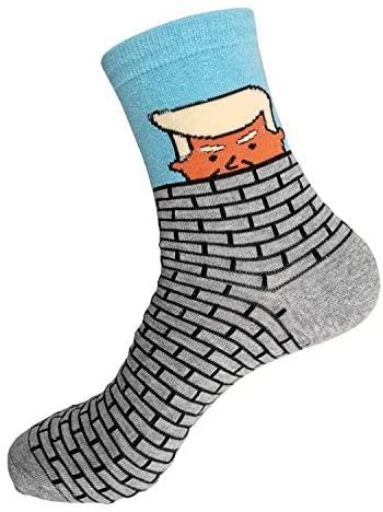 America Great Again Socks DONALD TRUMP HAIR SOCKS USA Flag Sock (Color1,One_Size): Clothing