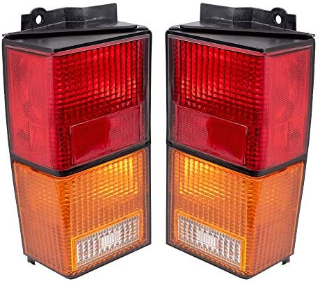 Brock Replacement Set Driver and Passenger Tail Lights Compatible with 1984-1996 Cherokee 4720501 4720500: Automotive