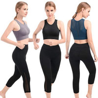 qualidyne Padded Women Yoga Sports Bra High Impact for Running Gym Workout Fitness at Women's Clothing store