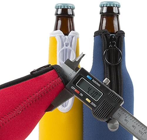 Eximius Power - Beer bottle Coolies with Extra thick 4mm Neoprene insulator -Pack of 6 in assorted color Sleeves (6 Pack - Bottle Coolies - Rose pink, Purple, Royal Blue, Burgundy, Aqua and Green): Kitchen & Dining
