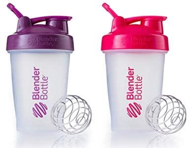 Blender Bottle 2 Pack (Pink|Plum): Sports & Outdoors
