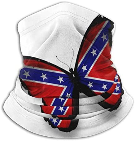 B&MAVIS Fashionable Face Scarf Print Photo Confederate Flag America Vote Rebel Butterfly Isolated Neck Gaiter Mask Bandana Breathable Lightweight Fishing Motorcycling Running Hunting : Sports & Outdoors