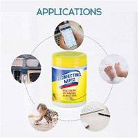 Disinfecting_Wet_Wipes, Portable 2020 New Professional and Natural Skin-Friendly 75% A1cohol Wet Cotton Pads Travel Home : Sports & Outdoors