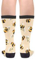 Bees Socks Men's Women's Novelty Crew Socks Funny Crazy Socks Gift: Clothing
