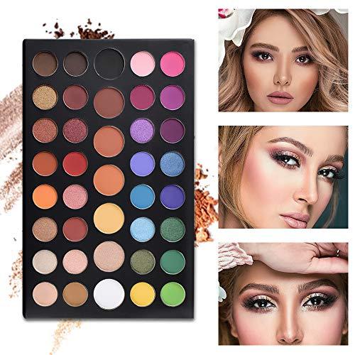 Freeorr 39 Pop Colors Eyeshadow Palette, High Pigmented Waterproof Long Lasting Eyeshadow Powder, Matte Shimmer Metallic Blendable Eyeshadow Palette : Beauty
