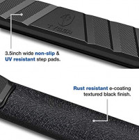"""Tyger Auto TG-SS2D35098 Tyger Rider Running Boards Compatible with 2019-2020 Dodge Ram 1500 (NOT for 19-20 Classic)   Crew Cab Only   3.5"""" Wide   Textured Black   Side Step   Nerf Bars: Automotive"""