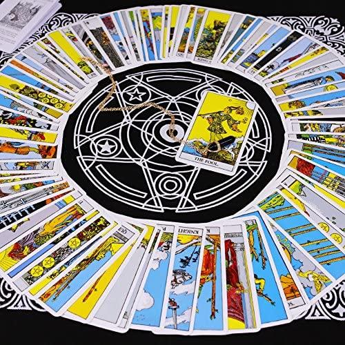 Tarot Card Deck, Tarocchi Tarotology Universal Waite Tarot Divination, A Divining Tablecloth with A Spirit Pendulum , 3PCS: Toys & Games