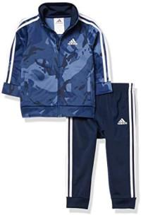 adidas Baby Boys' Li'l Sport Tricot Jacket & Jogger Clothing Set: Clothing