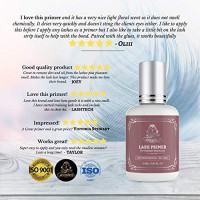 LASH PRIMER Rose for Eyelash Extensions 15 ml Forabeli | Lash Extension Glue Primer Adhesive Pretreatment | Protein Oil Remover Eye Lash | Lashes Cleanser eyelashes supplies Strong Retention : Beauty