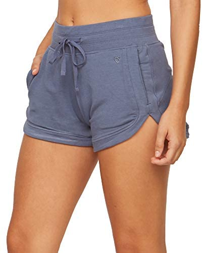 Colosseum Active Women's Four Way Stretch Micro French Terry Dolphin Lounge Short with Pockets: Clothing