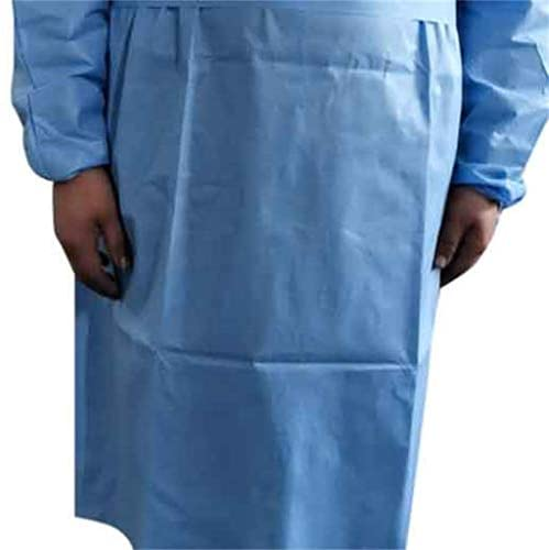 100pcs Disposable Protective Clothing, with Elastic Cuff, Knitted Cuff, Latex- Free, Non-Woven, FluidResistant, Dental, Hospital, Industries, Size Universal (100pcs)