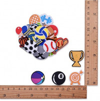 XHAOYEAHX 22pcs Sports Balls Shoes Charms Fits for Croc Clog Shoes Wristband Bracelet Party Gifts (Sports Charms 22pcs): Shoes