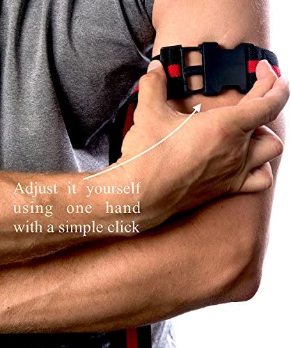 BYKOTTOS Blood Flow Restriction Bands for Arms - Blood Flow Restriction Braces for Incredible Fast Muscle Growth, Bands with Strong Clip and Thick Elastic Strap, Safer Workouts, Faster Gains : Sports & Outdoors