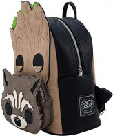 Pop! By Loungefly Marvel Groot and Rocket Mini Backpack Standard | Casual Daypacks