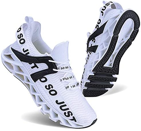 JSLEAP Mens Runing Shoes Walking Non Slip Blade Type Sneakers | Road Running