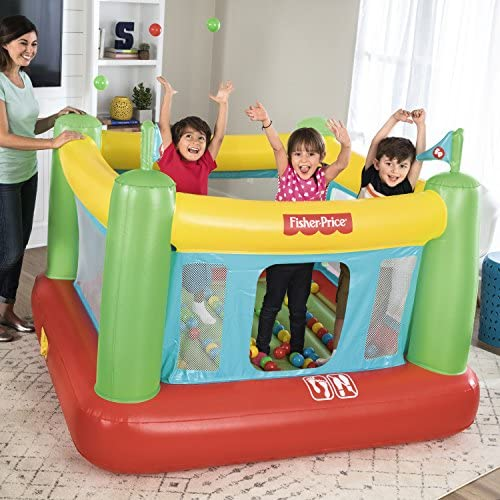 Fisher-Price 93532E Bouncesational Bouncer - Inflatable Bounce House, Green, Yellow, Red, Blue: Toys & Games