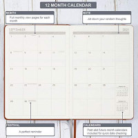 "2021 Planner - Planner 2021, Jan. 2021 - Dec. 2021, Weekly & Monthly Planner, 5.75"" X 8.25"", Calendar Stickers, A5 Premium Thicker Paper with Pen Holder, Inner Pocket and 88 Notes Pages : Office Products"