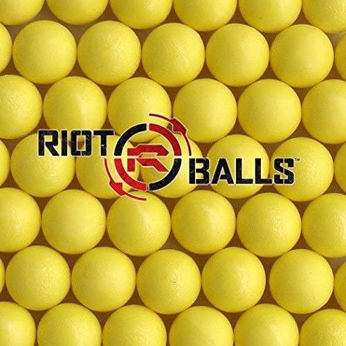 Riot Balls Yellow 100 X 0.68 Cal. PVC Nylon Self Defense Target Practice Paintballs Paintball Games … : Sports & Outdoors