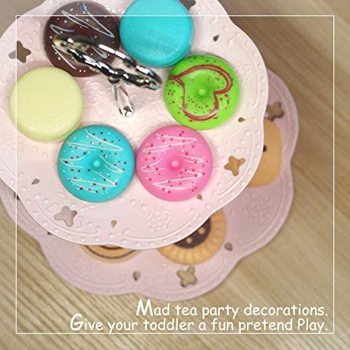 U DREAM Pretend Play Food Set, Low Tea Set for Kids, Dessert and Coffee Toy Set: Toys & Games