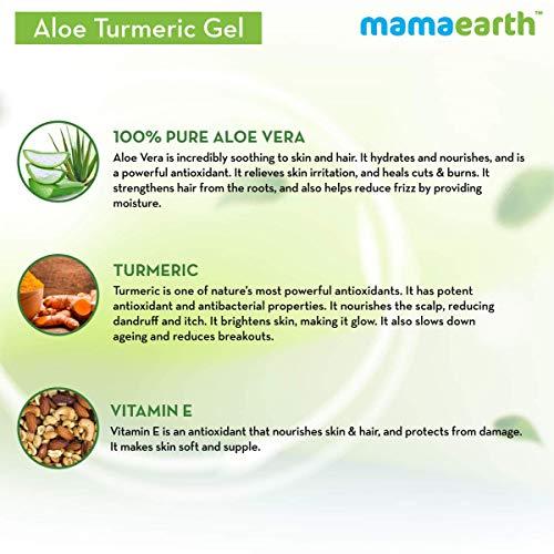 Aloe Vera Gel From 100% Pure Aloe Vera For Face | Skin & Hair with Turmeric & Vitamin E (150 Ml) : Beauty