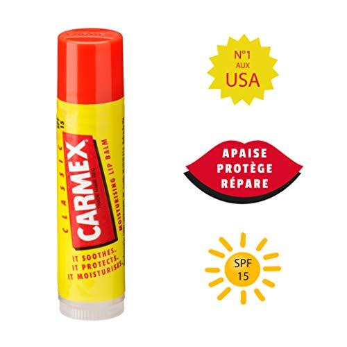 Carmex Click-Stick Moisturizing Lip Balm SPF 15 Strawberry 0.15 oz (Pack of 6) : Beauty