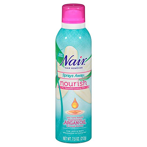 Nair Hair Remover Sprays Away Nourish Legs & Body 7.5 oz : Beauty