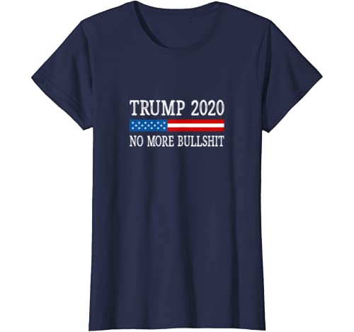Trump 2020 - No More Bullshit - Vintage Style - T-Shirt: Clothing