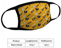 2PCS Pittsburgh Steelers Football Team Logo Bandanas Face Mask Headwear Balaclava Face Cover Neck Gaiter for Outdoors, Sports at Men's Clothing store