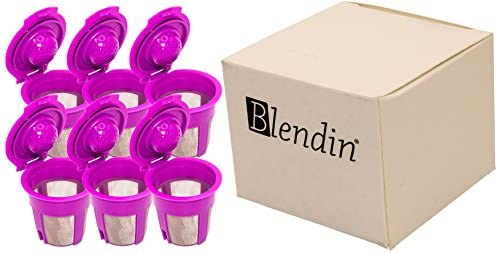 Blendin Refillable Reusable Coffee Filter Pod, Compatible with Keurig 2.0 Coffee Makers K200, K300, K400, K500, K600 Series (6 Pack): Kitchen & Dining