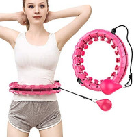 BZK Weighted Smart Hula Hoop Exercise for Adults and Kids, 2 in 1 Fitness Weight Loss Massage Hoola Hoops, 24 Knots Detachable 360°Auto-Spinning Non Dropping Hula Hoops 5lb : Sports & Outdoors