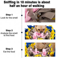 Green House Dog Snuffle Mat Pet Puzzle Toy Sniffing Training Pad Activity Blanket Feeding Mat for Dog Release Stress Blue: Pet Supplies