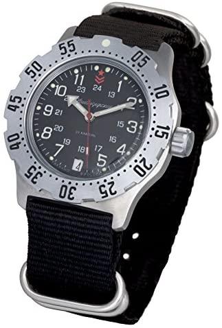 Vostok Komandirskie K-35 Mechanical AUTO Self-Winding Mens Military Wrist Watch #350751 (Black): Watches