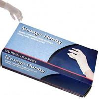 Always Handy Vinyl Powder Free Gloves 100/box, General Purpose, Foodservice Clear Gloves, Large: Home & Kitchen