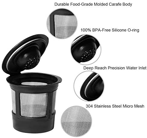 Reusable Refillable Single K-cup 3Pack for Keurig Brewers Compatiable, Stainless Steel Coffee Filter Replacement for Keurig Brewers 1.0 or 2.0: Kitchen & Dining