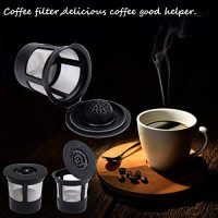 Reusable K Cups For Keurig 2.0 & 1.0 Brewers Universal Fit For Easy To Use Refillable Single Cup Coffee Filters - Eco Friendly Stainless steel Mesh Filter | Black (3 Pack): Kitchen & Dining