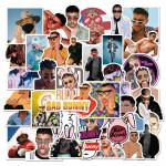 50 Pieces Of Puerto Rican Singer Bad Bunny Bad Rabbit Graffiti Stickers Luggage Computer Helmet Waterproof Stickers