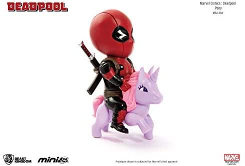 Beast Kingdom Marvel Comics Mea-004 Deadpool Pony Mini Egg Attack Action Figure: Toys & Games