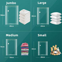 XUTAI Travel Vacuum Storage Bags for Clothes Comforters Blankets 9 Pack ( 3 S + 3 M +3 L ) Mattress Pillows with Pump Space Saver Bag: Home Improvement