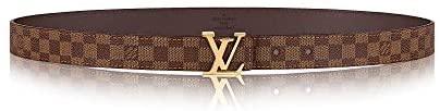Louis Vuitton Damier Ebene LV Initiales 25 mm Belt at Women's Clothing store