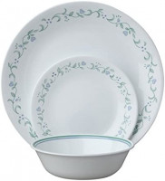 Corelle Country Cottage 12 Piece Service for 4, White, 12 - Piece Set: Dinnerware Sets: Dinnerware Sets