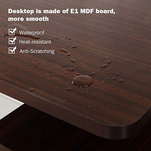 56'' Computer Desk, Study Writing Table for Home Office, Modern Simple Style PC Workstation with Storage Drawer and Baffle, Metal Frame for Indoor Use: Kitchen & Dining