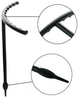 """Fivtyily 6 Pack Plant Support Stakes, U-Shaped Garden Flower Support for Orchid/Peony/Lily/Rose (High 5.9"""") : Garden & Outdoor"""