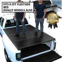 DNA Motoring TTC-HARD-005 Pickup Truck Bed Top Hard Solid Tri-Fold Tonneau Cover,Black: Automotive