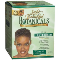 SOFT & BEAUTIFUL Botanicals with Natural Plant Extracts No-Lye No Mix Texturizer for Sensitive Scalps COARSE (Quantity: 2 Applications): Beauty