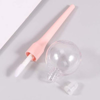 RONRONS 12 Pieces 11ml Pink Lollipop Empty Lip Gloss Tubes, Light Bulb Lip Balm Container for DIY Lipstick Samples : Beauty